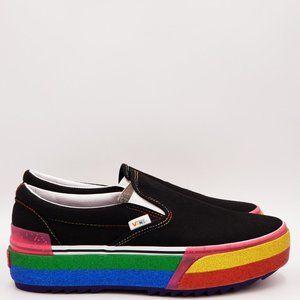 Vans Classic Slip-On Glitter Platform Sneakers